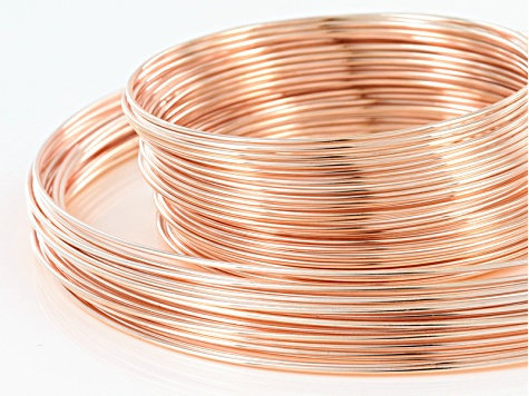 Extra Heavy Duty Memory Wire Necklace And Bracelet Kit In Rose Tone 100 Grams Total