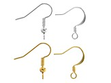French Earwire Kit in 2 Styles In Gold Tone & Silver Tone Appx 160 Pieces