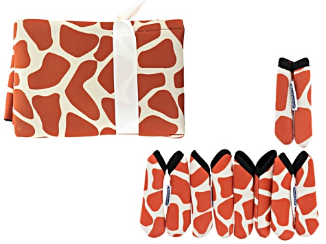 Fashion Grips ™ Orange Giraffe Pattern Set Of Five Covers Plus Tool Pouch