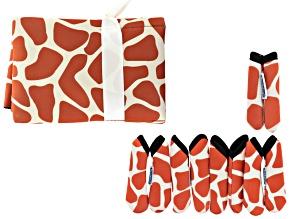Fashion Grips ™ Orange Giraffe Pattern Set Of Five Covers Plus Tool Pouch