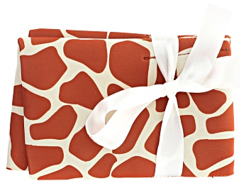Picture of Orange Giraffe Pattern Tool Pouch Holds 4 Tools