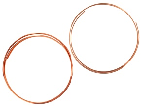 Copper Wire Kit incl 10 Gauge 1/2-Round Copper Wire & 12 Gauge Square Copper Wire Appx 40