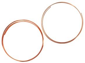 Copper Wire Kit incl 10 Gauge 1/2-Round Copper Wire & 12 Gauge Square Copper Wire Appx 40