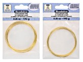 Flat Memory Wire Supply Kit in Silver Tone And Gold Tone And Memory Wire Made Easy Booklet