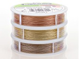 7-Strand Beading Wire Kit/6 Spools in Silvergold Color, Silverose Color & Champagne Appx 30ft Each