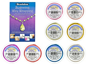 Artistic Wire Vibrant Color Silver Over Copper Wire Kit in 20 Ga Set/8 Colors&Wire Wrapping Booklet