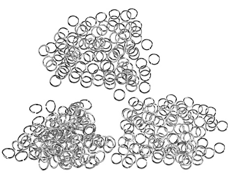 Findings Bulk Supply Kit in Silver Tone Jump Rings, Bails, Caps, Pins & Clasps Appx 785 total pieces