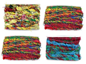Sari yarn multi-color 4 pack