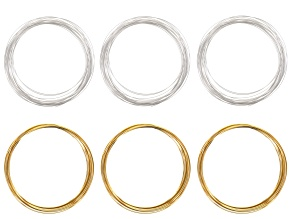 21 gauge wire kit in half round & square each in silver tone & brass appx 18 meters total