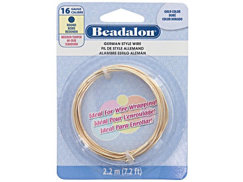 Round Wire set of 3 in Gold Tone w/ 2 pc 16G appx 2.2M & 1 pc 20G appx 6M