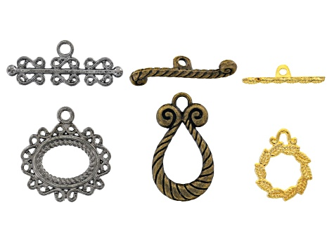 Assorted Toggle clasp set includes 3 styles