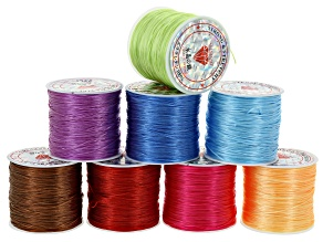 Elonga cord kit in 8 assorted colors appx 50 meters each spool