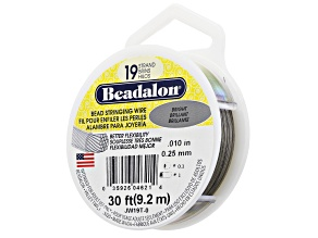 19-Strand Bead Stringing Wire .010 in Bright appx 30ft