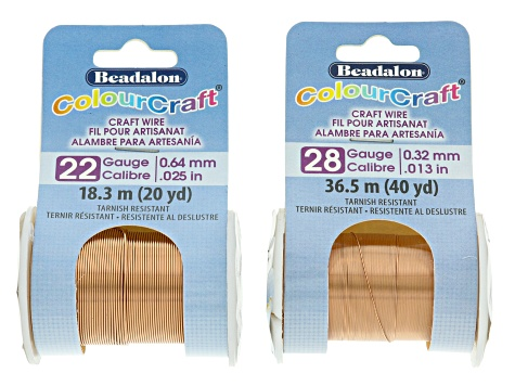Colourcraft Coppertone Wire Kit total of 7 wires in assorted sizes