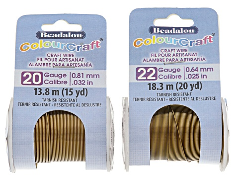 Colourcraft Vintage Bronze Tone Wire Kit total of 7 wires in assorted sizes