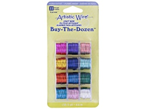 Wire Pack in Assorted Colors 22G Silver Plated Set of 12 aapx 5 yard each