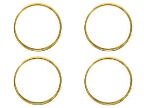 18G Square German Style Wire Set of 4 in Tarnish Resistant Brass appx 1.25M in length
