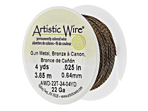 22G Twisted Artistic Wire appx .64mm in Gunmetal appx 4YD