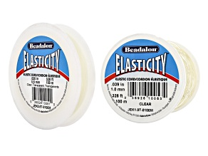 Original Elasticity Kit In Clear Sizes 0.5mm & 1.0mm Appx 100m Each