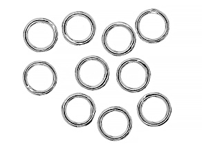 6mm Jump Rings in Silver Tone appx 10 pieces