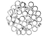 Jump Ring Assortment in Silver Tone in 2 Sizes 80 Pieces Total