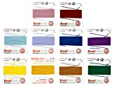 Silk Thread Size 6 Set of 10 in Assorted Colors 2M each