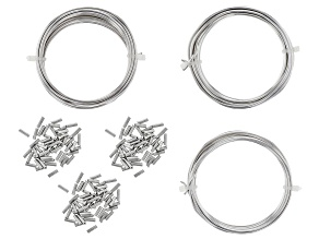 Artistic Wire And Crimp Connectors Kit In Silver Tone Includes 12,14, And 16 Gauge Wire