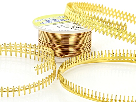 Brass Gallery Wire Supply Kit includes Oval, Heart, and Long Stick Wire