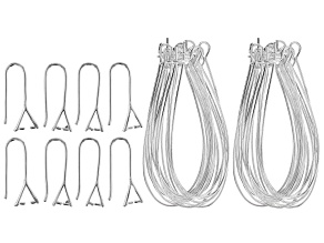 Ear Wire Set of 22 Pairs in 2 Styles in Silver Tone