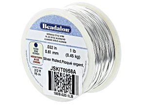 Round German Style Wire 20 Gauge in Silver Tone 1lb Spool