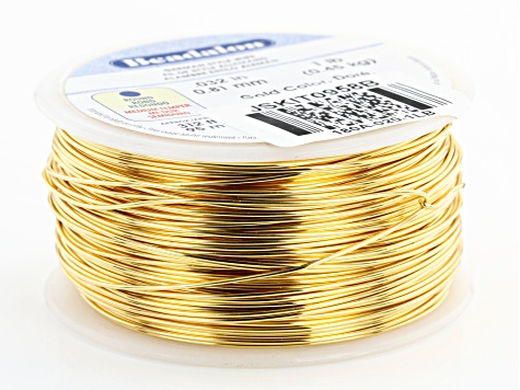 Round German Style Wire 20 Gauge in Gold Tone 1lb Spool
