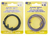 14 Gauge Artistic Wire with Crimp Connectors in 4 Colors 3 Feet per Color