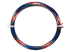 18 Gauge Multi Color Wire in Red/Rose Gold Tone/Blue Color Appx 20ft