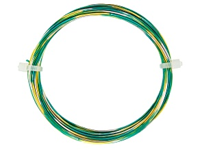 20 Gauge Multi Color Wire in Yellow/Silver Tone/Turquoise Color Appx 25ft Total