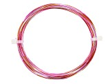 20 Gauge Multi Color Wire in Fuchsia/Orange/Silver Tone Color Appx 25ft Total