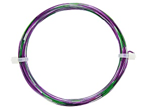 20 Gauge Multi Color Wire in Grape/Green/Grey Color Appx 25ft Total