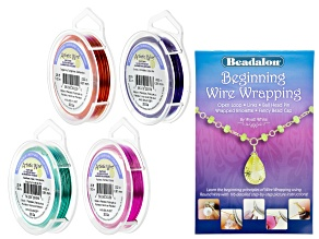 Beginning Wire Wrapping Booklet and 20 Gauge Wire Kit in Four Colors 100ft Total