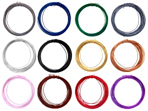 Colourcraft 20 Gauge Wire in 12 Assorted Colors 96 Yards Total