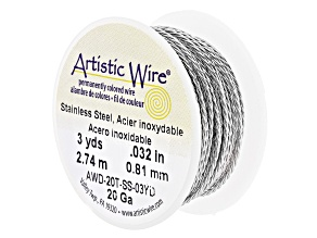20 Gauge Twisted Round Stainless Steel Wire Appx 3 Yards