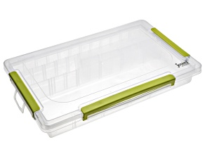 Jewel School™ Adjustable 3 Row 23 Compartment Organizer And Green Latches