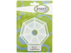 Jewel School™ Set Of 3 Heptagonal Storage Containers - 1 Medium & 2 Small