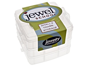 Jewel School™ 3 Tier Organizer With Green Handle (14.8x14.8x12.5cm)