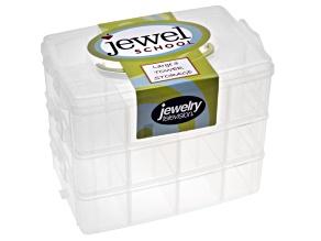 Jewel School™ 3 Tier Organizer With Green Handle (22x14.5x18.5cm)