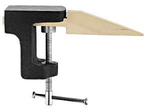 Jewelry Making Bench Pin With Combination Anvil For Sawing And Filing