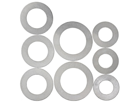 Aluminum Washer Variety Pack includes 8 Pieces Total