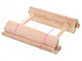 Endless Loom incl: End Bars, Sizing Rods, Tension Rods, Elasitc Bands & Case