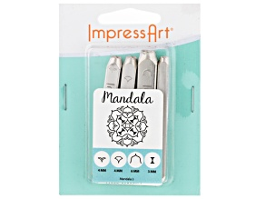Mandala Design 4 Piece Stamp Kit includes V-Shape, Fan Shape, Hourglass, And Wishbone