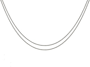 ImpressArt® 1.5mm Ball Chain Necklace Set of 2 in Stainless Steel appx 18