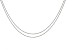 """ImpressArt® 1.5mm Ball Chain Necklace Set of 2 in Stainless Steel appx 18"""" with appx 4"""" Extender"""