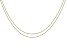 """ImpressArt® 1.5mm Ball Chain Necklace Set of 2 in Brass Tone appx 18"""" with appx 4"""" Extender"""